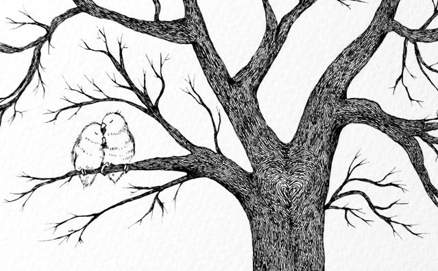 Wedding Tree Illustration