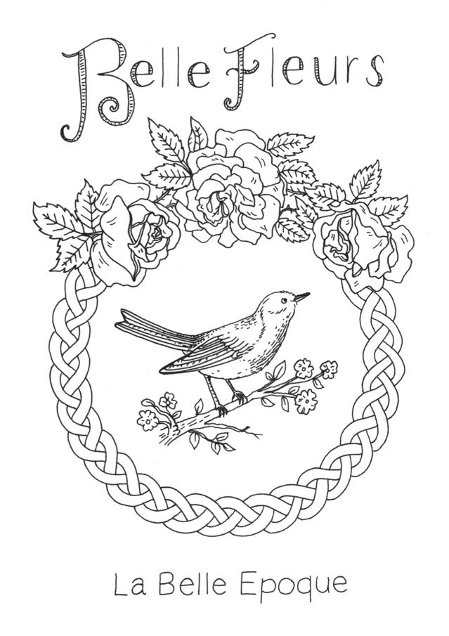Belle Fleurs, La Belle Epoque Illustration