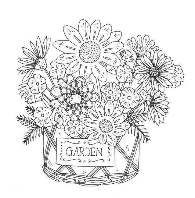 Garden Flower in Pot
