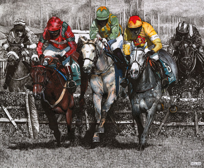 Horse race Illustration