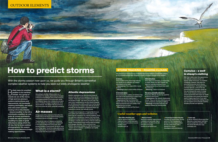 Illustration of a storm for a magazine