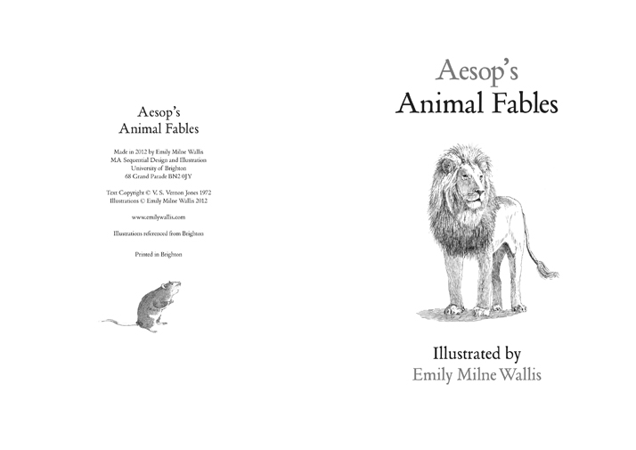 Aesop's Fables lion and Mouse