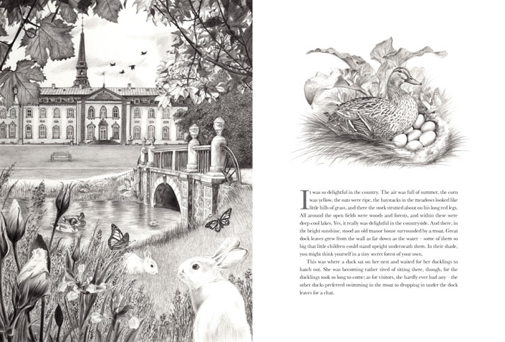 Bregentved Manor illustration for The Ugly Duckling by Emily Wallis