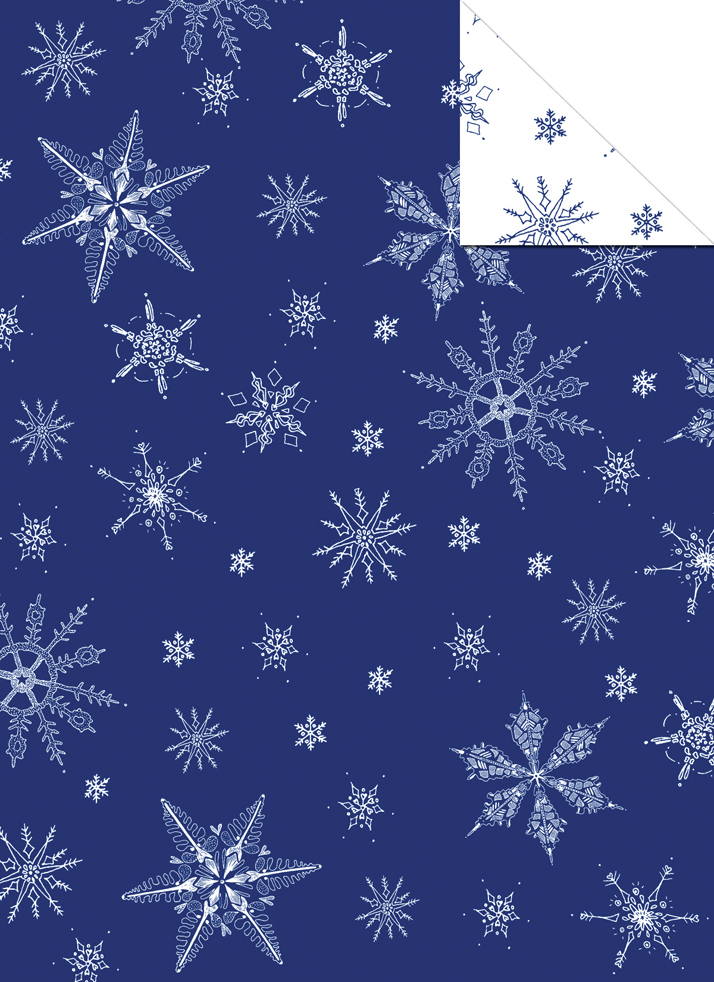Wrapping paper snowflake gift wrap design Emily Wallis