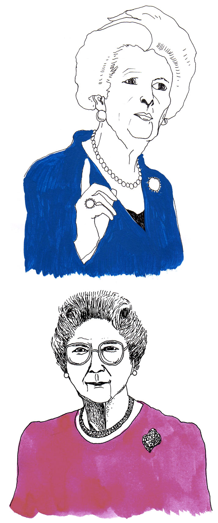 Illustration of Margaret Thatcher