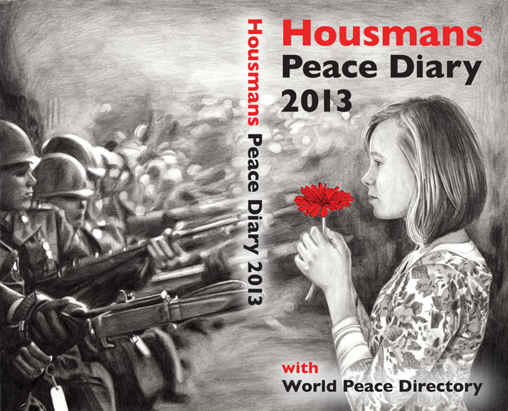 Housmans Peace Diary 2013 front cover illustration by Emily Wallis