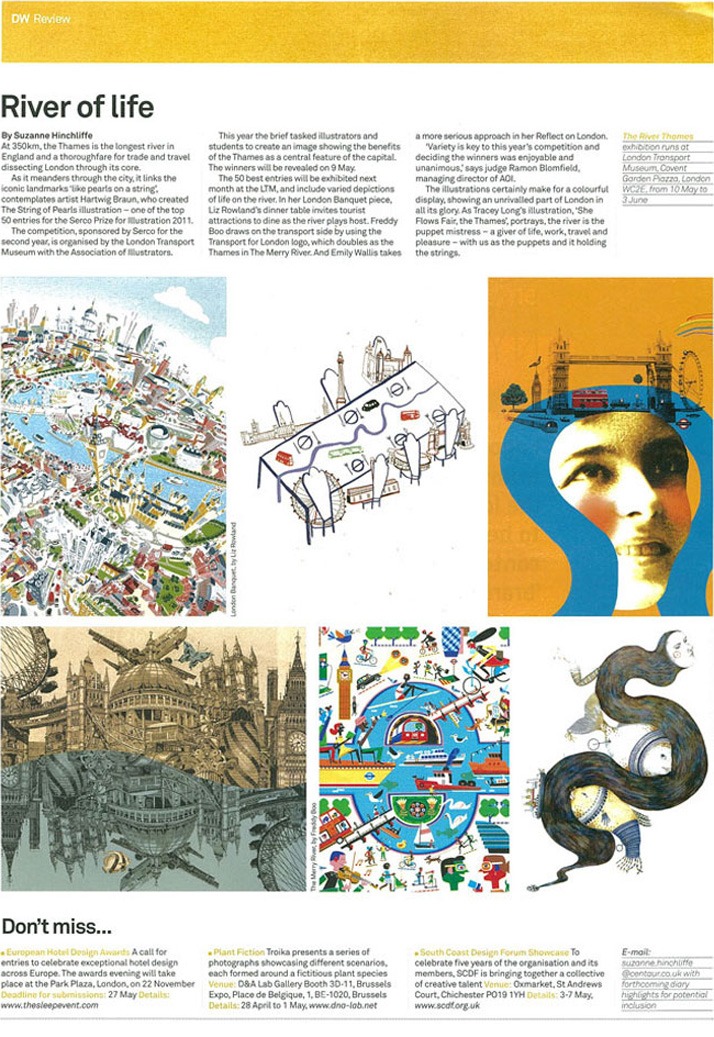 Reflect on London Cityscape illustration in Design Week Magazine