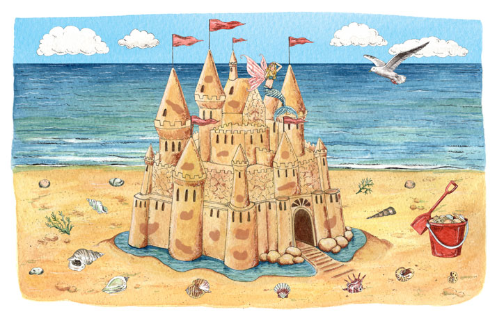 Sandcastle illustration