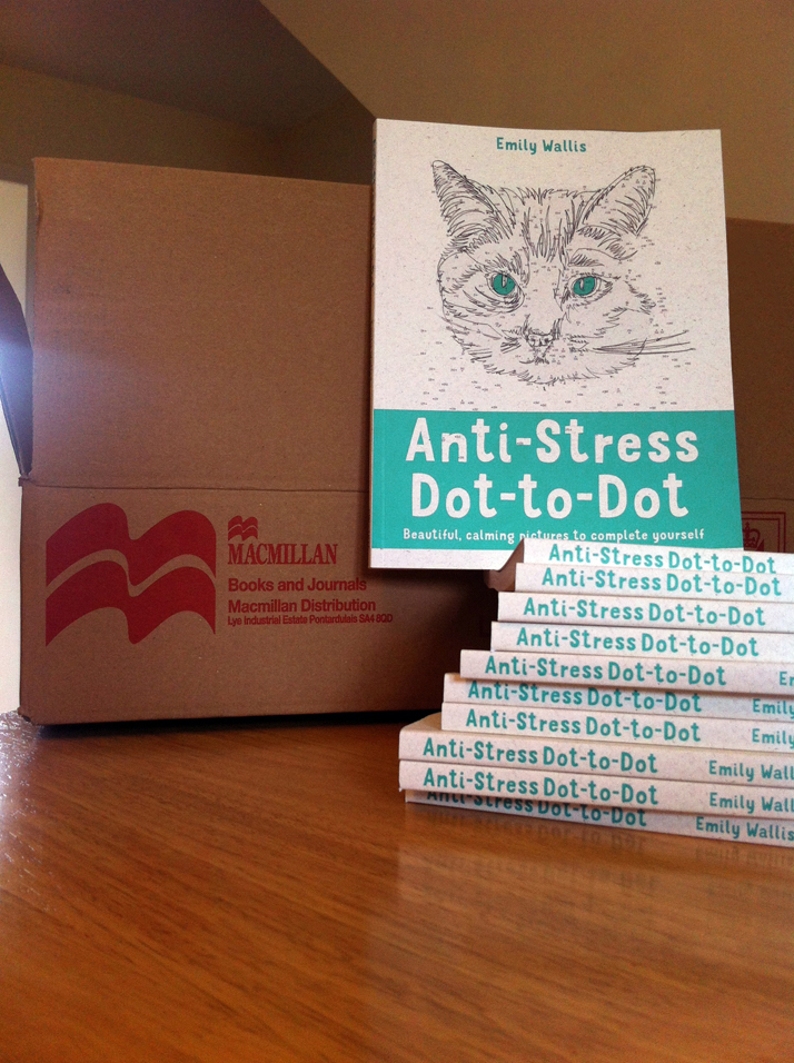 Photo of Anti-stress dot-to-dot book by illustrator Emily Wallis