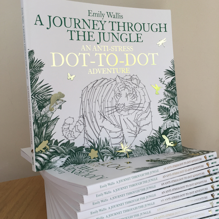 Emily Wallis - A Journey Through The Jungle, An Anti-Stress Dot-to-Dot Adventure
