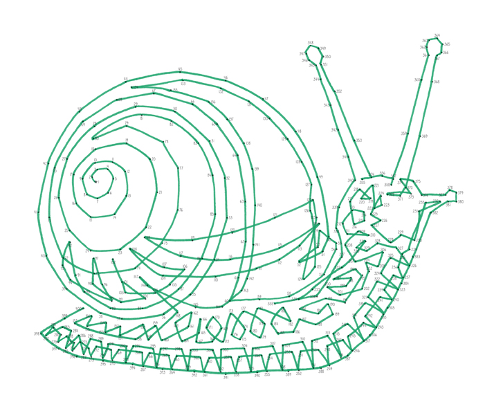 Emily Wallis Snail Anti-Stress Dot-to-Dot