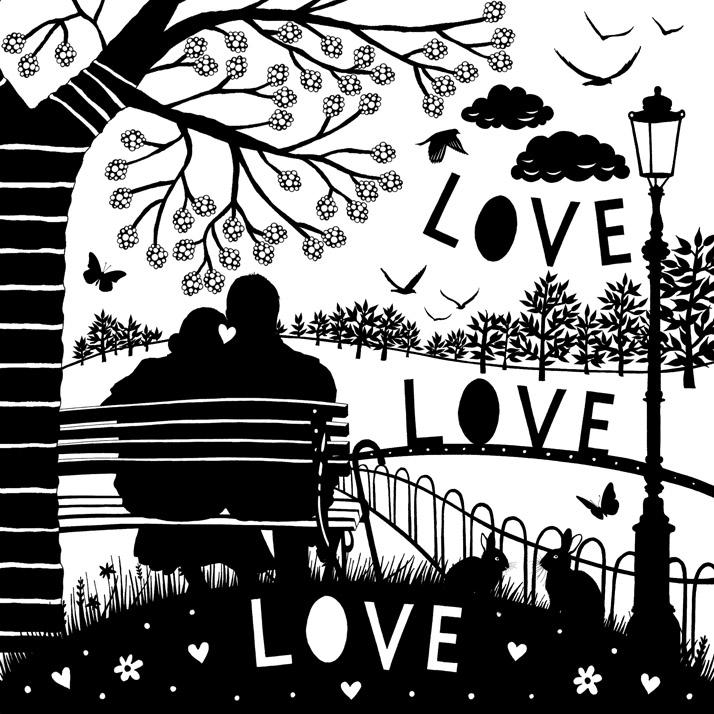 Love it Paper cut style illustration