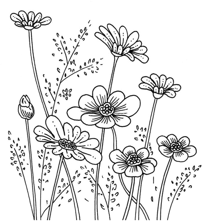 Emily Wallis Rubber Stamp Flower
