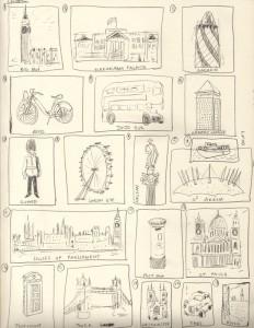 London stamp design ideas