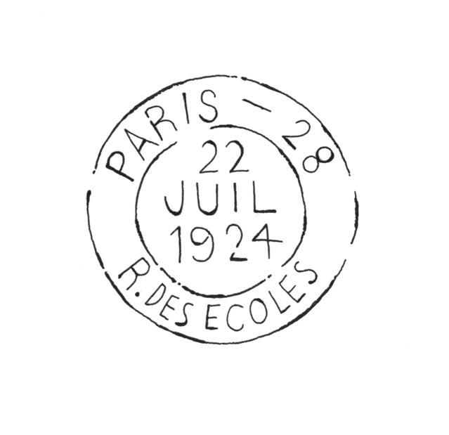 Paris Postage Stamp Illustration