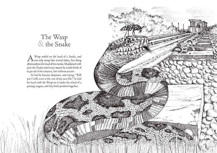 The wasp and the snake aesop's fables