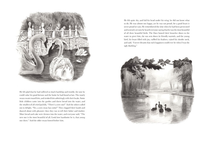 The Ugly Duckling illustrations by Emily Wallis