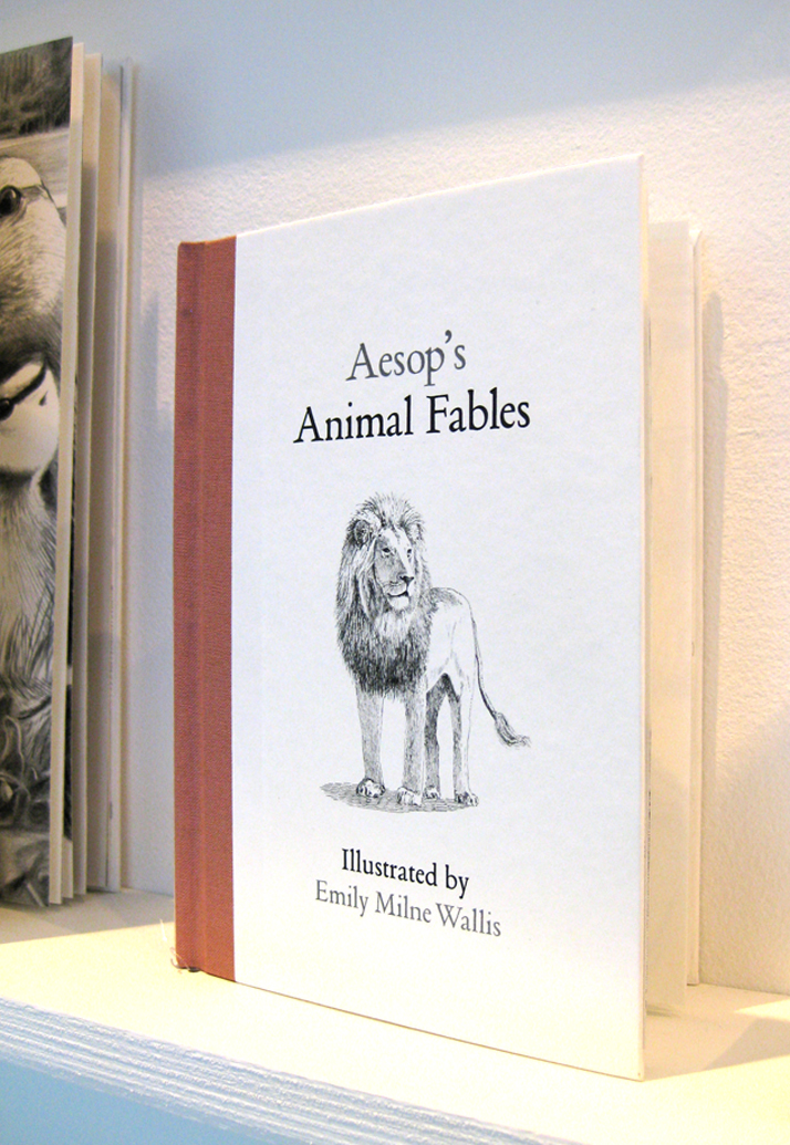 Aesop's Fables handmade book by Emily Wallis