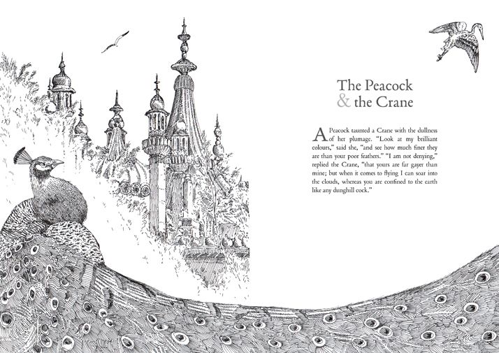 Aesop's Fables the Peacock and the crane