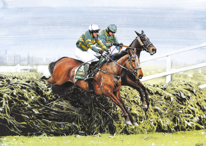 Horse jump illustration