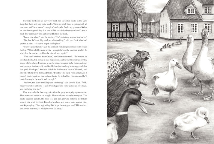 The poultry Yard illustration the ugly duckling