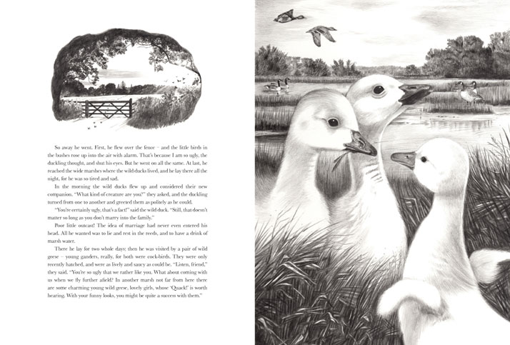 The Ugly Duckling and wild geese
