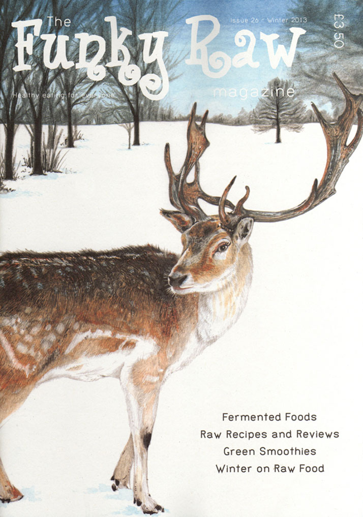 Reindeer in the Snow illustration