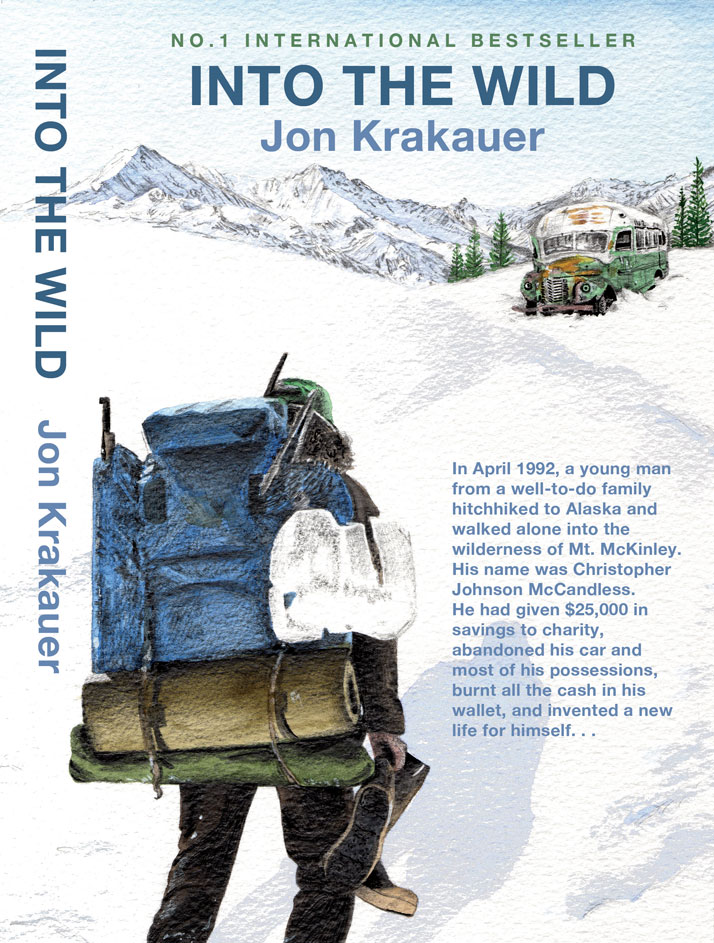 Into the wild book cover illustrated by Emily Wallis for the Crawley festival of words