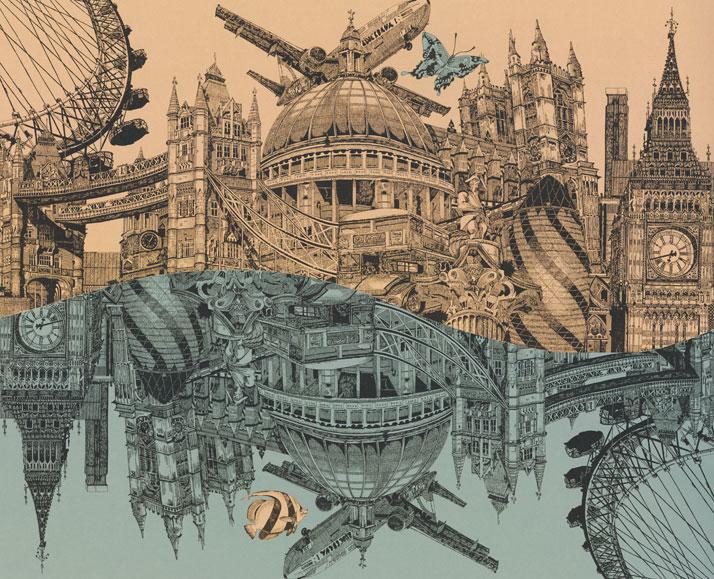 Reflect on London drawing by Emily Wallis