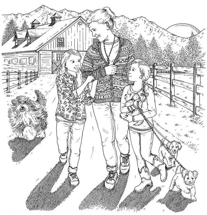 Silver Pony Ranch Illustration by Emily Wallis for Silver Pony Ranch by D.L.Green