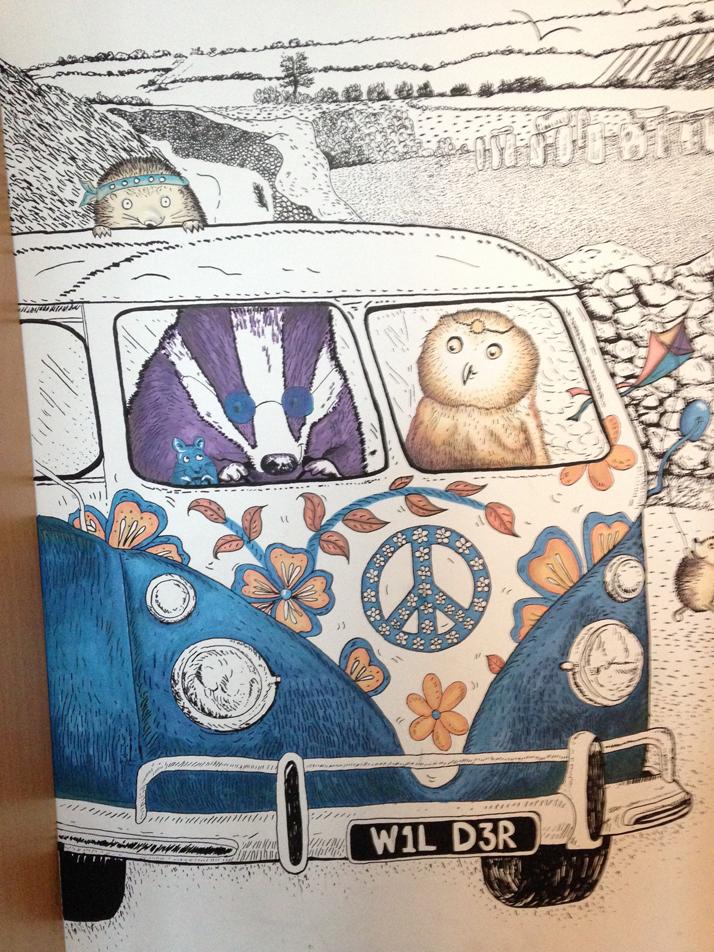 Wall Art Illustration Mural Animals in VWVan