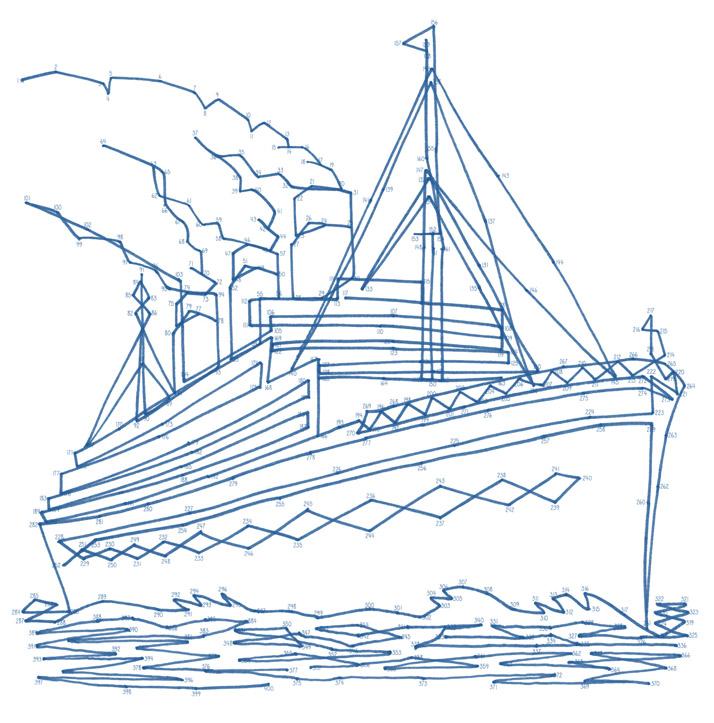 Emily Wallis Ocean liner Dot to Dot anti stress