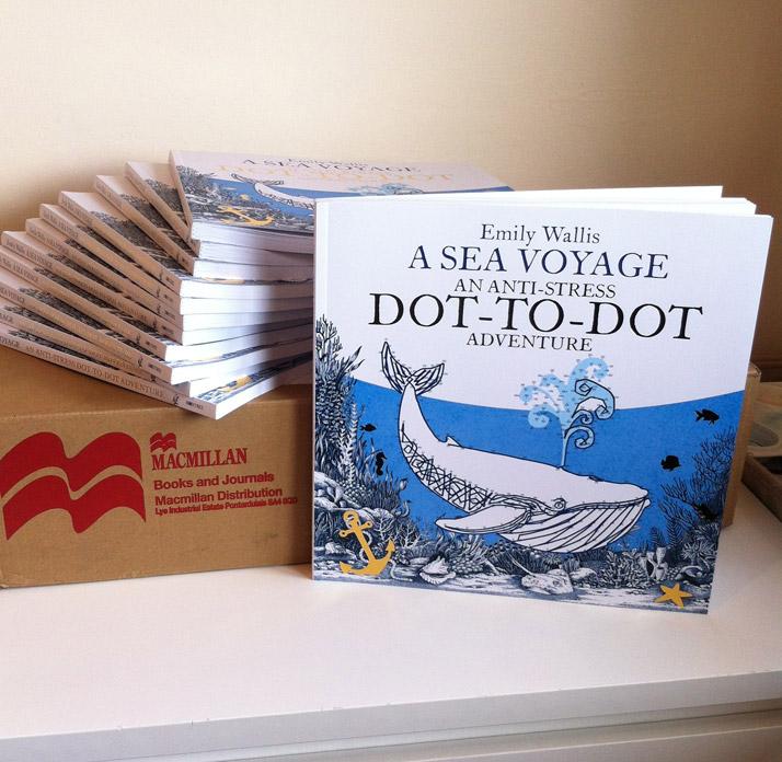 Emily Wallis A Sea Voyage Anti Stress Dot to Dot Book