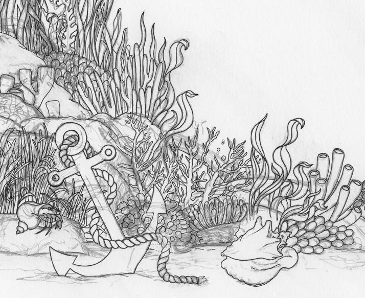 Emily Wallis A Sea Voyage Cover Artwork in Progress